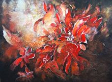 Fleurs rouges 30x40'' 2012 , 700$