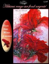 Patron de peinture :fleur hibiscus