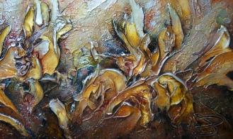 Tumulte couleur de miel (détail 3) 48x16'', Prix 500$