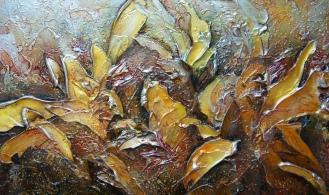 Tumulte couleur de miel (détail 1) 48x16'', Prix 500$