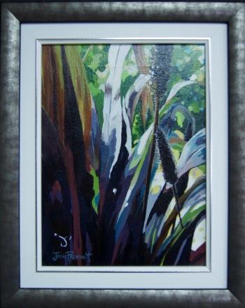 Pennisetum acrylique sur toile en 2008 par Josée Perreault