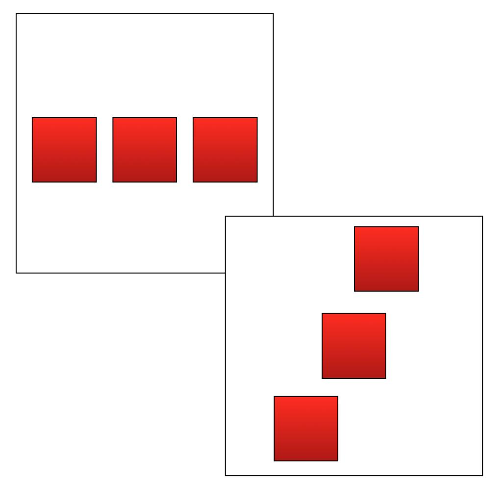 3 à l' horizontale  ou  3 en diagonale...